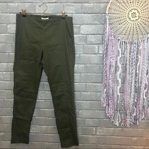 h&m // olive army green skinny slim fit pants 12